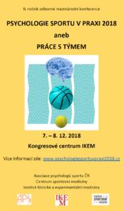 Konference: Psychologie sportu v praxi @ Kongresové centrum IKEM, Praha | Hlavní město Praha | Česko